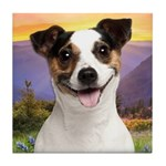 Jack Russell Meadow Tile Coaster