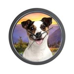 Jack Russell Meadow Wall Clock