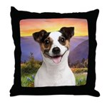 Jack Russell Meadow Throw Pillow