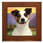 Jack Russell Meadow Framed Tile