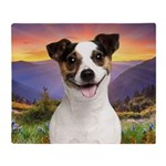 Jack Russell Meadow Throw Blanket