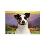 Jack Russell Meadow Rectangle Magnet (100 pack)