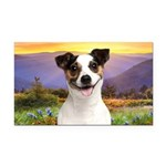 Jack Russell Meadow Rectangle Car Magnet