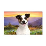 Jack Russell Meadow 20x12 Wall Decal