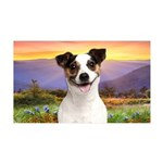 Jack Russell Meadow 35x21 Wall Decal