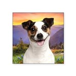 Jack Russell Meadow Square Sticker 3