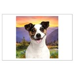 Jack Russell Meadow Large Poster