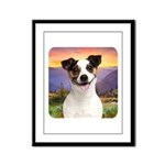 Jack Russell Meadow Framed Panel Print