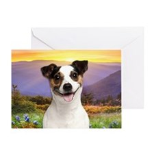 Jack Russell Meadow Greeting Card