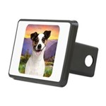 Jack Russell Meadow Rectangular Hitch Cover