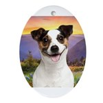 Jack Russell Meadow Ornament (Oval)