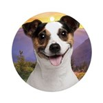 Jack Russell Meadow Ornament (Round)