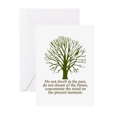 Cool Meditation Greeting Card