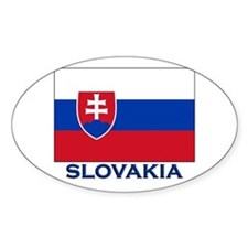 Slovakia Flag Gear Oval Decal