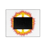 Trippy Spiked Peace Sign Tie Dye - Red Orange Pict