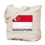 Flag of Singapore Tote Bag