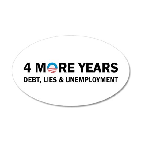 4 More Years Debt, Lies and Unemployment 35x21 Ova