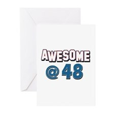 Awesome at 48 Greeting Cards (Pk of 10)