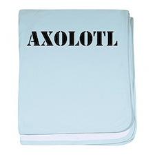 Axolotl baby blanket
