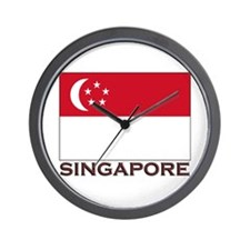 Singapore Flag Stuff Wall Clock
