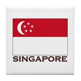 Singapore Flag Stuff Tile Coaster