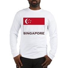 Singapore Flag Stuff Long Sleeve T-Shirt