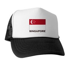 Singapore Flag Gear Trucker Hat
