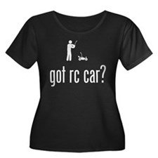 RC Car Women's Plus Size Scoop Neck Dark T-Shirt