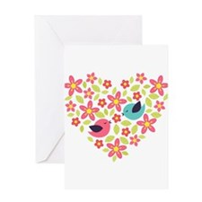 Spring Heart Greeting Card