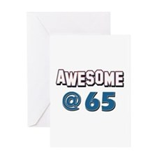 Awesome at 65 Greeting Card
