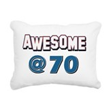 Awesome at 70 Rectangular Canvas Pillow