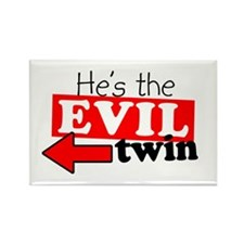 He Evil Twin Rectangle Magnet
