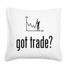Forex / Stock Trader Square Canvas Pillow