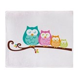Owl family Throw Blanket