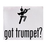 Trumpet Player Throw Blanket