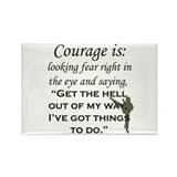 Cute Courage Rectangle Magnet (10 pack)