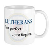Lutherans Not Perfect Just Forgiven Small Mug