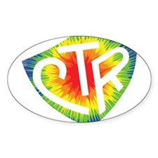 Tie Dye LDS CTR Ring Shield Rainbow Decal