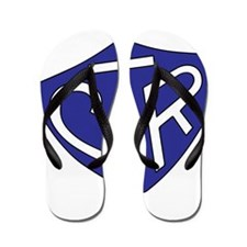 CTR Ring Shield Blue Flip Flops