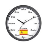 Spanish Language Wall Clock