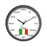 Italian Language Wall Clock