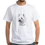 westie no bkgrd for dark T-Shirt
