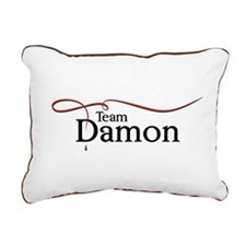VD Team Damon black Rectangular Canvas Pillow
