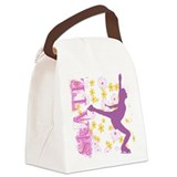 Funny Ice skater Canvas Lunch Bag