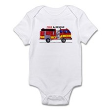 Fire And Rescue Infant Bodysuit