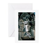 Silver Jester Taking Bow Greeting Cards