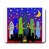 Chicago Skyline nightlife Mousepad