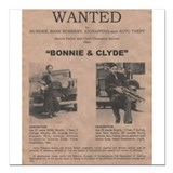 Bonnie and Clyde Wanted Poster Square Car Magnet 3