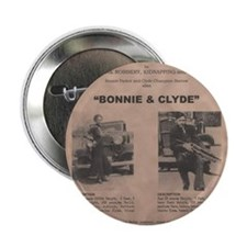 "Bonnie and Clyde Wanted Poster 2.25"" Button"
