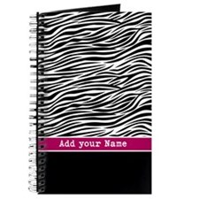 zebra stripes pink Journal